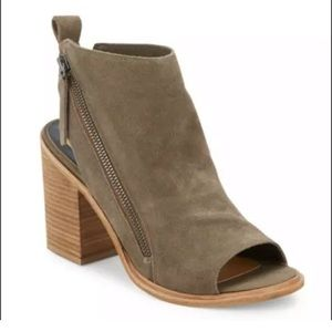 Dolce Vita Suede Leather Peep toe Ankle Booties
